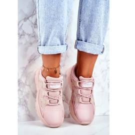 Damskie Sportowe Buty Big Star Różowe GG274637 3