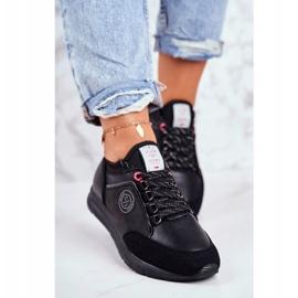 Sportowe Damskie Buty Sneakersy Cross Jeans Czarne GG2R4046C 3