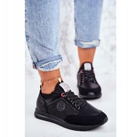 Sportowe Damskie Buty Sneakersy Cross Jeans Czarne GG2R4046C 1