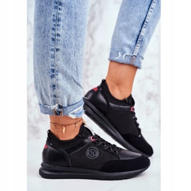 Sportowe Damskie Buty Sneakersy Cross Jeans Czarne GG2R4046C 2