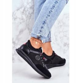 Sportowe Damskie Buty Sneakersy Cross Jeans Czarne GG2R4046C 4