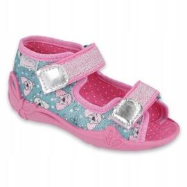 Befado obuwie dziecięce 242P107 srebrny wielokolorowe 1