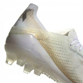 Buty piłkarskie adidas X Ghosted.1 Ag M EG8154 białe czarny, biały, złoty 2