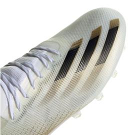 Buty piłkarskie adidas X Ghosted.1 Ag M EG8154 białe czarny, biały, złoty 3