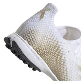 Buty piłkarskie adidas X Ghosted.3 Tf M EG8199 białe czarny, biały, złoty 1