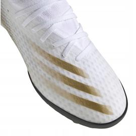 Buty piłkarskie adidas X Ghosted.3 Tf M EG8199 białe czarny, biały, złoty 2