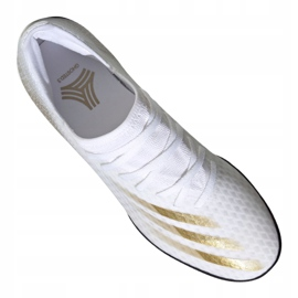 Buty piłkarskie adidas X Ghosted.3 Tf M EG8199 białe czarny, biały, złoty 3