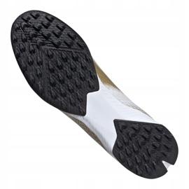 Buty piłkarskie adidas X Ghosted.3 Tf M EG8199 białe czarny, biały, złoty 4