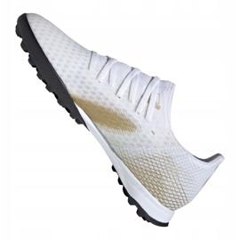 Buty piłkarskie adidas X Ghosted.3 Tf M EG8199 białe czarny, biały, złoty 5