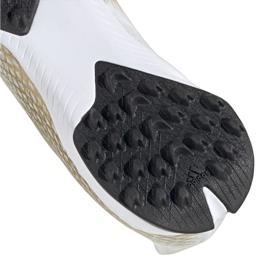 Buty piłkarskie adidas X Ghosted.3 Tf M EG8199 białe czarny, biały, złoty 6