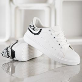 SHELOVET Wygodne Białe Sneakersy 3
