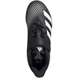 Buty piłkarskie adidas Predator 20.4 H&L Tf Jr FW9225 czarne białe 1