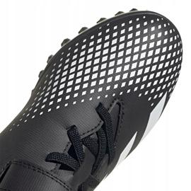 Buty piłkarskie adidas Predator 20.4 H&L Tf Jr FW9225 czarne białe 3