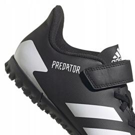 Buty piłkarskie adidas Predator 20.4 H&L Tf Jr FW9225 czarne białe 4