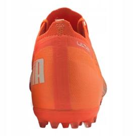 Buty piłkarskie Puma Ultra 1.1 Mg M 106078-01 pomarańczowe wielokolorowe 3
