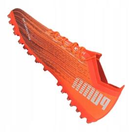 Buty piłkarskie Puma Ultra 1.1 Mg M 106078-01 pomarańczowe wielokolorowe 4