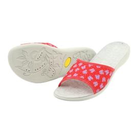 Befado obuwie damskie pu 300D043 czerwone niebieskie srebrny szare 3