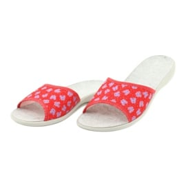 Befado obuwie damskie pu 300D043 czerwone niebieskie srebrny szare 2