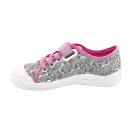 Befado obuwie dziecięce 251X158 różowe szare 2