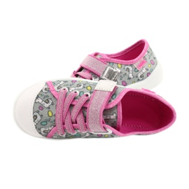 Befado obuwie dziecięce 251X158 różowe szare 5