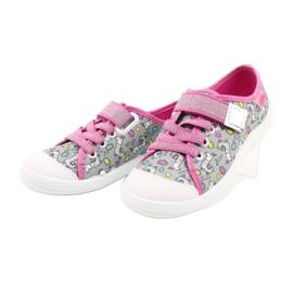 Befado obuwie dziecięce 251X158 różowe szare 3