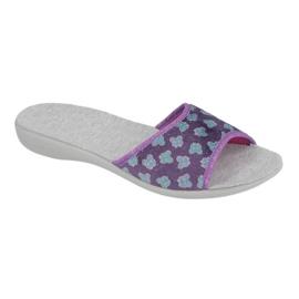 Befado obuwie damskie pu 300D042 fioletowe niebieskie szare 1