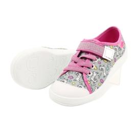 Befado obuwie dziecięce 251X158 różowe szare 4