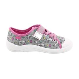 Befado obuwie dziecięce 251X158 różowe szare 1