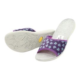 Befado obuwie damskie pu 300D042 fioletowe niebieskie szare 5