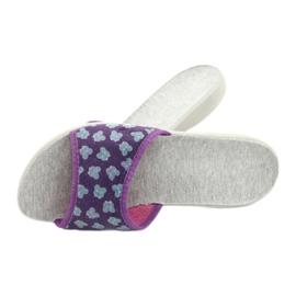 Befado obuwie damskie pu 300D042 fioletowe niebieskie szare 6