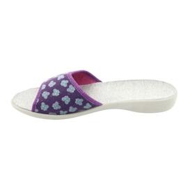 Befado obuwie damskie pu 300D042 fioletowe niebieskie szare 3