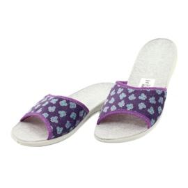 Befado obuwie damskie pu 300D042 fioletowe niebieskie szare 4