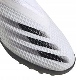 Buty piłkarskie adidas X Ghosted.3 Ll Tf M EG8158 szary/srebrny, biały, szary/srebrny białe 2