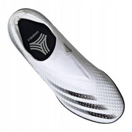 Buty piłkarskie adidas X Ghosted.3 Ll Tf M EG8158 szary/srebrny, biały, szary/srebrny białe 4