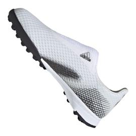 Buty piłkarskie adidas X Ghosted.3 Ll Tf M EG8158 szary/srebrny, biały, szary/srebrny białe 6