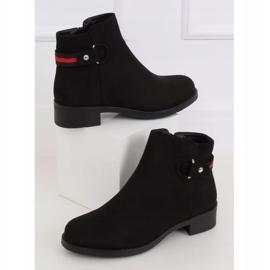 Sztyblety damskie czarne Q8AX1570-07 Black czerwone 4