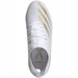 Buty piłkarskie adidas X GHOSTED.3 Fg Jr EG8210 białe białe 1