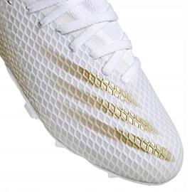 Buty piłkarskie adidas X GHOSTED.3 Fg Jr EG8210 białe białe 3