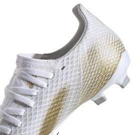 Buty piłkarskie adidas X GHOSTED.3 Fg Jr EG8210 białe białe 4