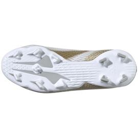 Buty piłkarskie adidas X GHOSTED.3 Fg Jr EG8210 białe białe 6