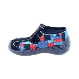 Befado obuwie dziecięce 190P095 czerwone granatowe niebieskie 2