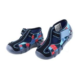 Befado obuwie dziecięce 190P095 czerwone granatowe niebieskie 3