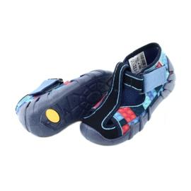 Befado obuwie dziecięce 190P095 czerwone granatowe niebieskie 4