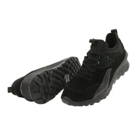 Filippo Slipony buty sportowe ze skarpetą DP1531/20 BK czarne 4