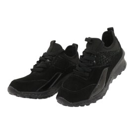Filippo Slipony buty sportowe ze skarpetą DP1531/20 BK czarne 2