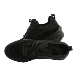 Filippo Slipony buty sportowe ze skarpetą DP1531/20 BK czarne 5