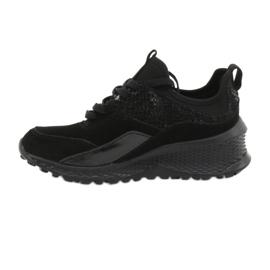 Filippo Slipony buty sportowe ze skarpetą DP1531/20 BK czarne 1
