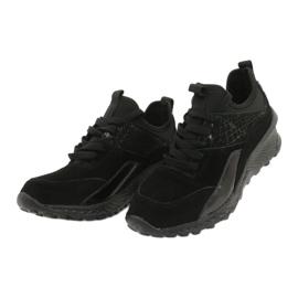 Filippo Slipony buty sportowe ze skarpetą DP1531/20 BK czarne 3