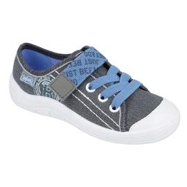Befado obuwie dziecięce 251X129 niebieskie szare 1
