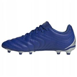 Buty piłkarskie adidas Copa 20.3 Fg Jr EH1810 białe niebieskie 2